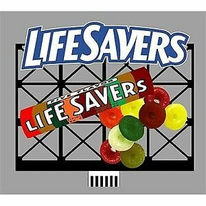 MICRO STRUCTURES O, N, HO SCALE 3D BILLBOARD LIFE SAVERS LG | BN | 880851