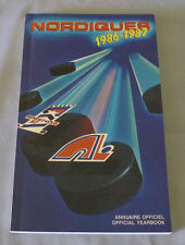 Original NHL Quebec Nordiques 1986-87  Official Hockey Media Guide
