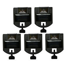 5 New Lite Watch Solar Powered Night Light Security Address Sign LED Yard Lawn