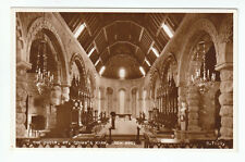 The Choir St Conan's Kirk Loch Awe Oban Argyll 1953 Real Photograph Valentines