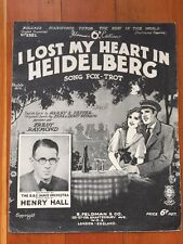London I LOST MY HEART in Heidelberg BBC Henry Hall Germany 1920s  Sheet music