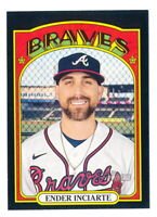 ENDER INCIARTE 2021 TOPPS HERITAGE BLACK BORDER PARALLEL #374 PRINT RUN /50