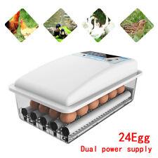 Adjustable Automatic Turning 24 Duck/Goose Eggs Incubators Digital Temp Display