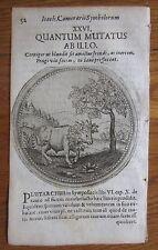 J. Camerarius: Emblemata Emblem Bull Quantum Mutatus Ab Illo - 1677