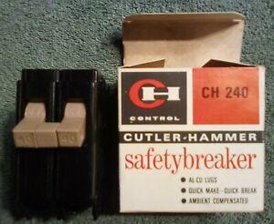 New Circuit Breaker Eaton Cutler Hammer CH240  40 Amp 2 Pole in box