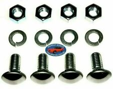 Ford 7/16-14x1 Stainless Capped Round Head Front Rear Bumper Bolts 4pcs E