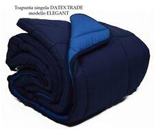 Trapunta DATEX TRADE modello ELEGANT singola un posto blu