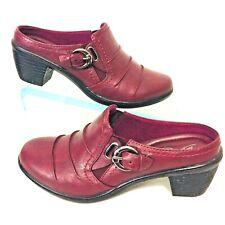 Easy Street womens Size 7.5 M Clog Comfort Wave Berry Burnish Slip on NEW WOB