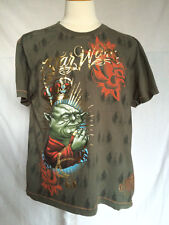 Mens Marc Ecko Cut & Sew Star Wars T-Shirt 2XL Yoda Say Your Prayers Green