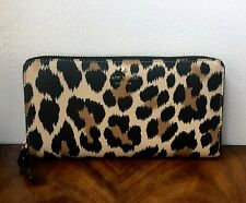 NWT Kate Spade Hyde Lane Leopard MICHELE Zip Around Removable Pouch Wallet $178