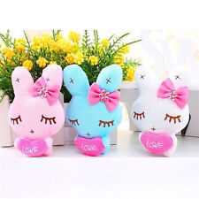Cute Love Rabbit Plush Toy Doll Keychain For Cellphone Bag Decor Gift ☆