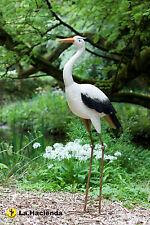 La Hacienda Tall Heron Metal Garden Pond Patio Bird Animal Ornament 103cm H