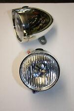 VINTAGE RETRO CHROME LOOK FRONT LED LAMP/LIGHT CITY DUTCH DYNAMO REPLACEMENT