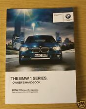 GENUINE BMW 1 SERIES F20 F21 HANDBOOK OWNERS MANUAL 2011-2015 BOOK