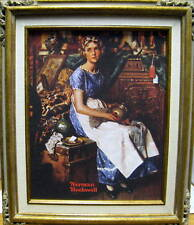 New Norman Rockwell Dreaming In The Attic Reproduction Framed Painting