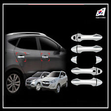 Chrome Door Handle Cover Molding Smart Key Type For 10 11 Hyundai Tucson ix35