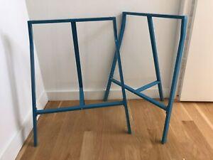 Ikea Lerberg 10035 Trestle Table Legs Blue