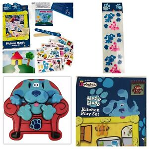 LOT Blues Clues Thinking Chair 3D Tyco Puzzle Colorforms Stickers Activity Kit