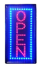 Neon Light Open Sign with Animation On Off for Business Vertical Open Ln100