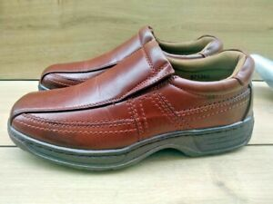 Mens CUSHION WALK Easy fasten Comfort Mocassin loafer Shoes Size 9 Brown 971353