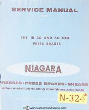 Niagara 1B 30 Ton and 60 ton, Press Brake Service Manual