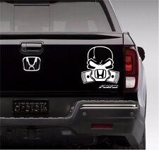 Skull Gas Mask sticker  hond race car truck window decal