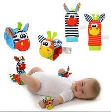 Infant Baby Cute Animal Wrist Foot Sock Rattles Soft Developmental Toys Finders