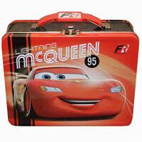 Disney Pixar CARS LIGHTNING MCQUEEN Metal Tin Lunch Box School Storage Bag Case