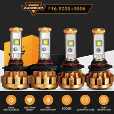 Auxbeam 9005+9006 LED Headlight Bulb Kit for Chevy Silverado1500 2500 01-06 9145