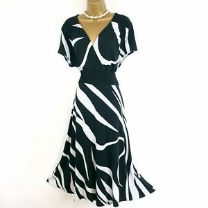 Joanna Hope Black White Swing Dress UK 20