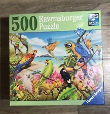 Ravensburger Jigsaw Puzzle Tropical Birds Premium 500 Pc SOFTCLICK Sealed HTF