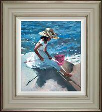 Sherree Valentine Daines Sitting on the Rocks Framed L/Edition Print on Canvas