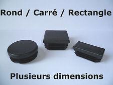 Bouchon embout pour tube rond / carré / rectangle / plusieurs dimensions