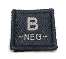 Blood Group Woven Dark Blue Patch #4, LBV, Police & Emergency Workers, Hook Rear