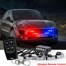 1 Kit 16 LED Flashing Car Truck Strobe Emergency Warning Light Bar Dash Grill