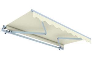 Balkonmarkise Sonnenschutz Markise Kassettenmarkise elfenbein 6 x 3,5 m B-Ware