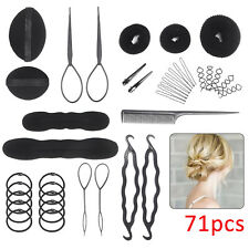 71Pcs Set Styling Clip Bun Maker Hair Twist Braid Ponytail Tool Accessories