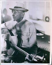 Vintage Bluesman Mance Lipscomb Plays On Acoustic Guitar Musician Photo 8X10