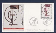e/ Danemark   enveloppe  tableau  Jacobsen  1988