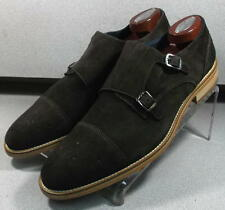 240916 ESi60 Mens Shoes Size 11 M Brown Suede Made in Italy Johnston & Murp