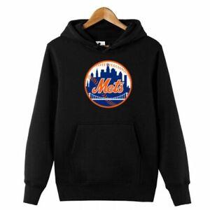 MLB New York Mets Pullover Hoodie Fleece Hooded Sweatshirt Gift For Men Women