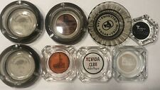 Vintage 1940-60's Collectible Las Vegas Hotel Casino Ashtrays Lot Of 8-Estate