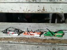 2001 MATCHBOX WILDLIFE,canyon,sky snow RESCUE TRANSPORT  HELICOPTER lot of 3