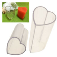 Clear Heart Shape Candle Mould Soap Mold For Candle Making Handmade DIY Crafts