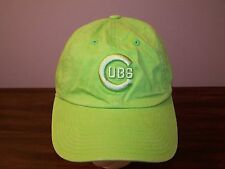 Chicago Cubs lime green baseball Hat Cap - Adjustable - Excellent Condition