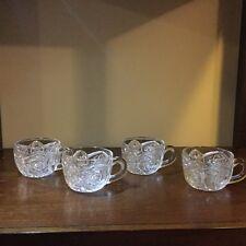 Vintage Imperial Marks Crystal Glass punch glasses set of 4