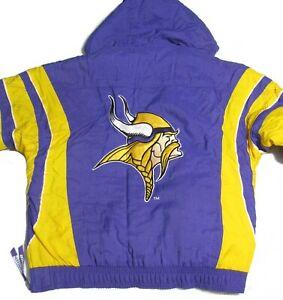 Vintage Starter ProLine Jacket Minnesota Vikings Men's Medium Purple Hooded 90's