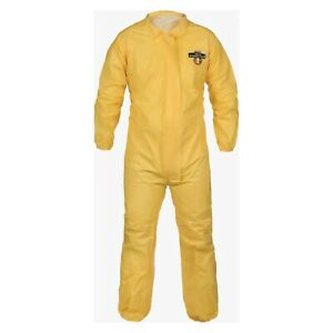 New One C1S417Y-XXL ChemMAX Coverall Disposable Yellow Paintsuit No Hood XXL
