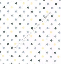 Gray Tan Polka Dot Circles Vinyl Contact Paper Shelf Drawer Liner Peel & Stick