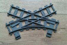 LEGO® City Eisenbahn RC kompatible 45° Kreuzungsweiche 3Dprint 7996   bricktrain